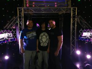 The brothers and I on the SHIMMER entrance ramp.