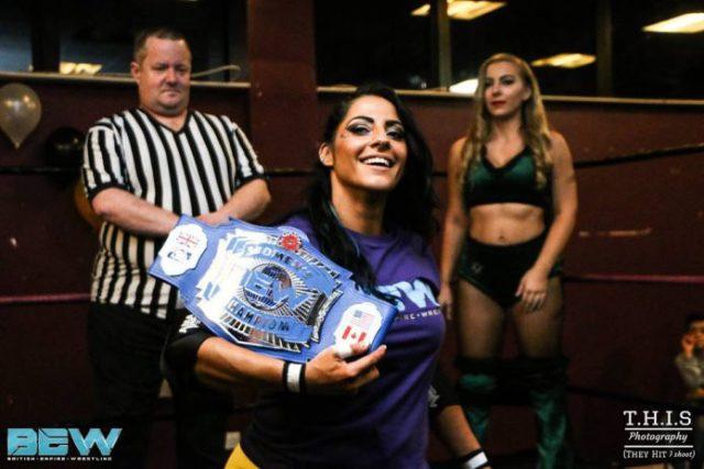British Empire Wrestling Women's Champion KC Spinelli