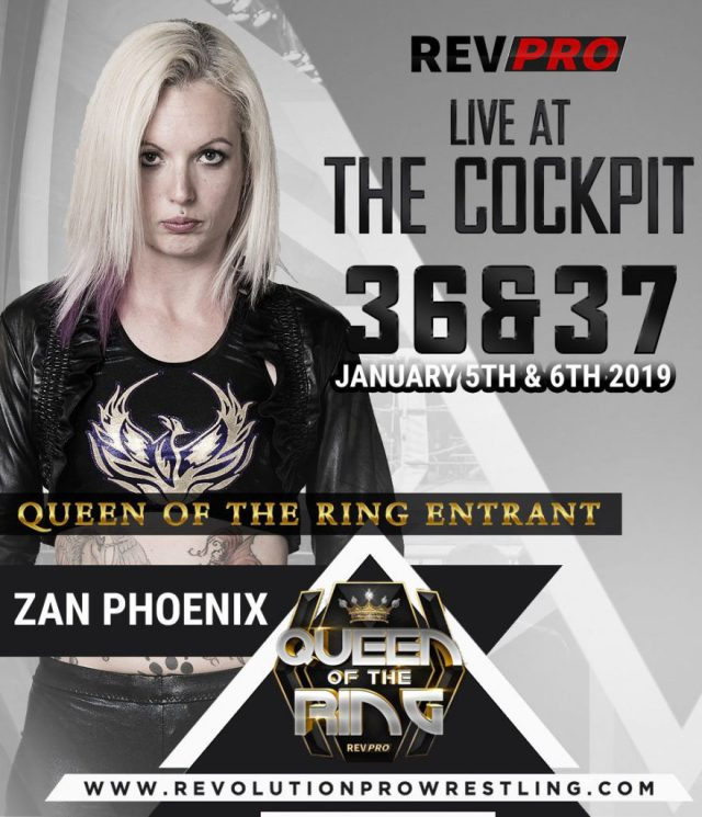 Zan Phoenix will appear at Rev Pro's Queen of the Ring in January