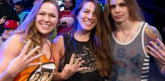 Ronda Rousey, Marina Shafir and Jessamyn Duke
