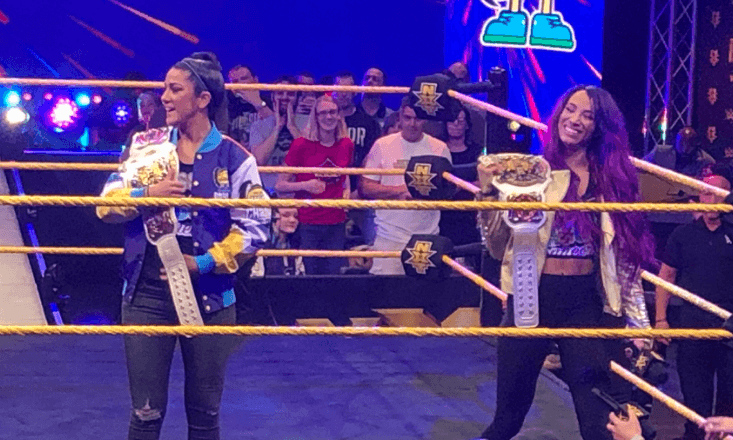 Image result for Sasha Banks And Bayley Make Surprise Appearance At NXT Tapings (PHOTOS)