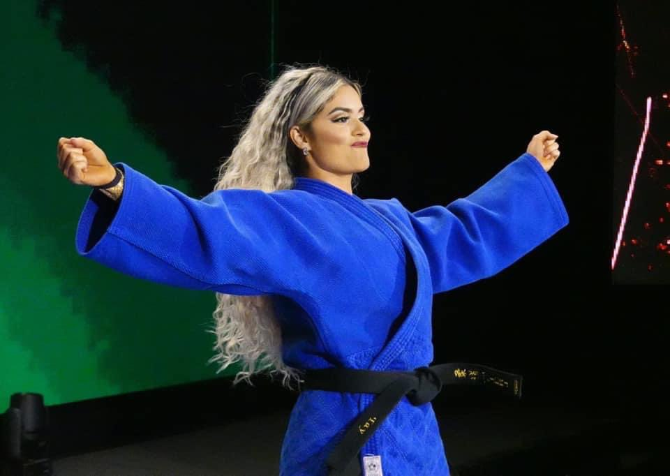 Taynara Conti in tag team action on AEW's The Deadly Draw
