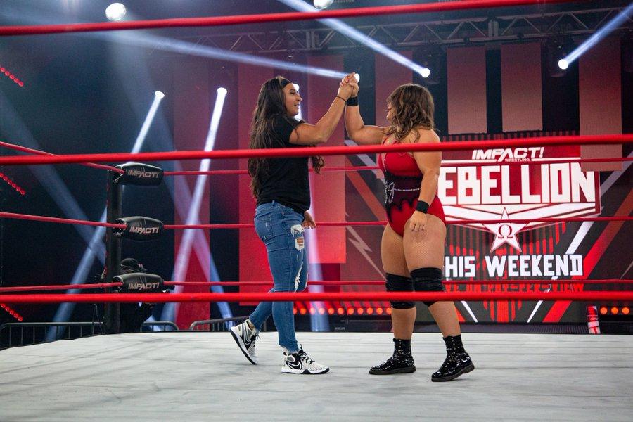 Rachael Ellering arrives to IMPACT as Jordynne Grace's tag team partner for Rebellion