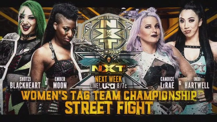 Street Fight for the NXT Women's Tag Team Titles set for next week