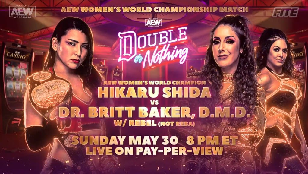 Hikaru Shida vs. Britt Baker to clash at Double or Nothing for the AEW Women's Title