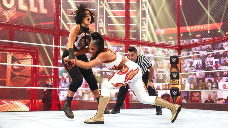 WWE shares behind the scenes of Bianca Belair at Hell in a Cell