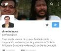 Cuenta de Twitter Olmedo López