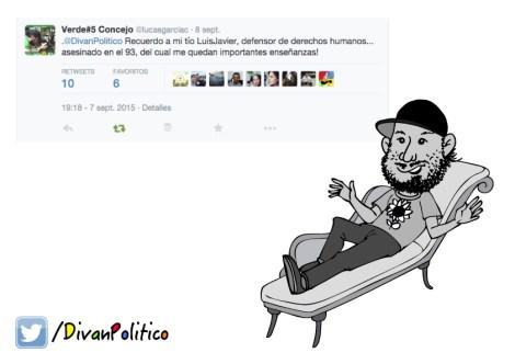 Caricatura Lucas García en Diván Político