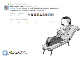 Caricatura Gabriel Jaime Rico en Diván Político