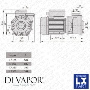 LX LP250 Pump 25 HP   Hot Tub   Spa   Whirlpool Bath
