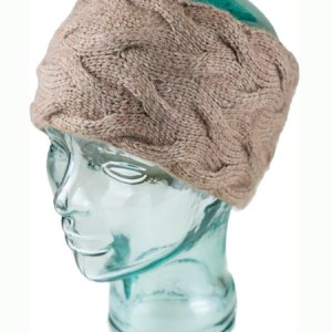 Cable Ear Warmer, Ash, Alpaca Blend, winter Headbands for the whole family