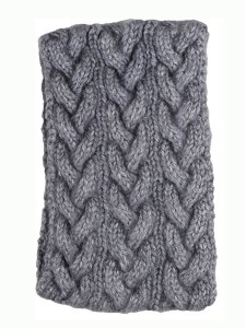 Cable Ear Warmer, Grey, Alpaca Blend, winter Headbands for the whole family