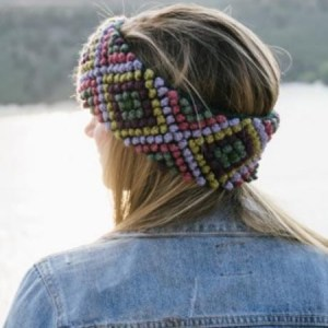 Diamond Ear Warmer, Flora, Alpaca Blend, winter Headbands for the whole family