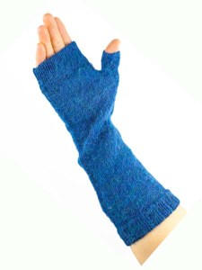 Milkshake Arm Warmer, Blue, 100% Alpaca, winter wrist warmers for the whole family
