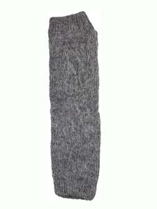 Milkshake Arm Warmer, Grey, 100% Alpaca, winter wrist warmers for the whole family