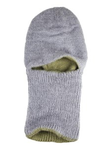 Arctic Hood Reversible, Grey/Olive, Alpaca Blend winter Balaclava for the whole family