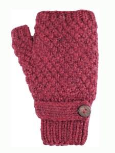 Button Wrist Warmer, Burgundy Alpaca Blend, winter wrist warmers for the whole family
