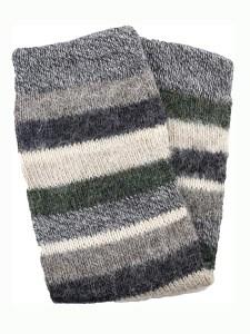 Multi Stripe Leg Warmer 100% Alpaca, Grey, Winter accessories for the whole family
