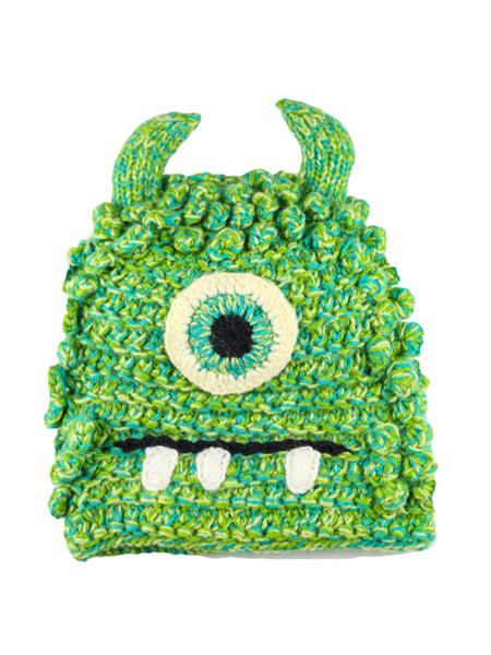 Kids Bally Monster Hat Green