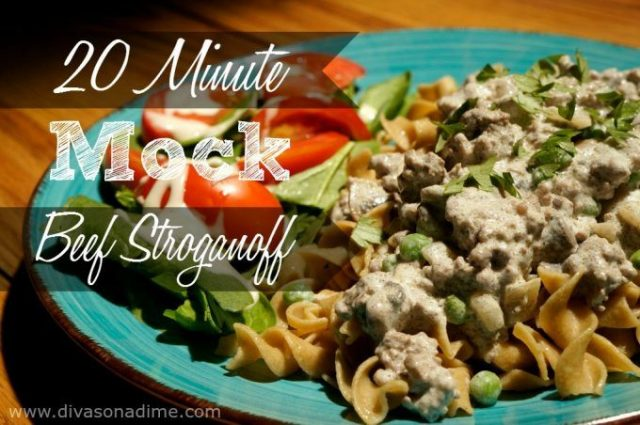 Here's a super quick and OMG good Mock Beef Stroganoff recipe. My family loved it! All the flavors of Beef Stroganoff in about 20 minutes! Creamy and savory with lots of juicy hamburger, this is comfort in a bowl.