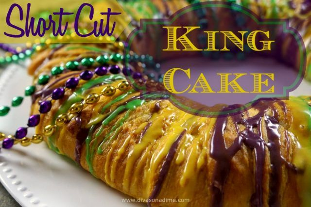 Super easy King Cake uses crescent rolls and a creamy filling made in minutes. It's delicious! Everyone will want your recipe!