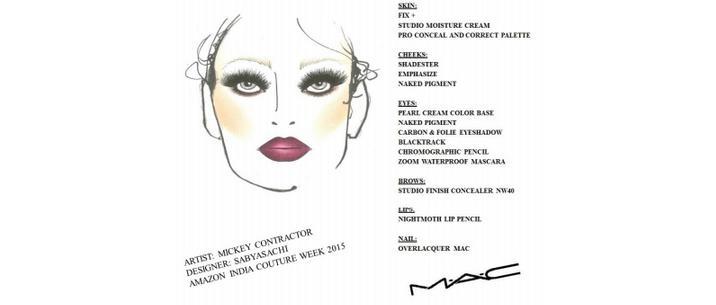 Amazon India Fashion Week 2015: MAC Cosmetics for Sabyasachi