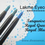 Swatch Attack!: Lakme Eyeconic Kajal in Regal Green, Turquoise, Royal ..