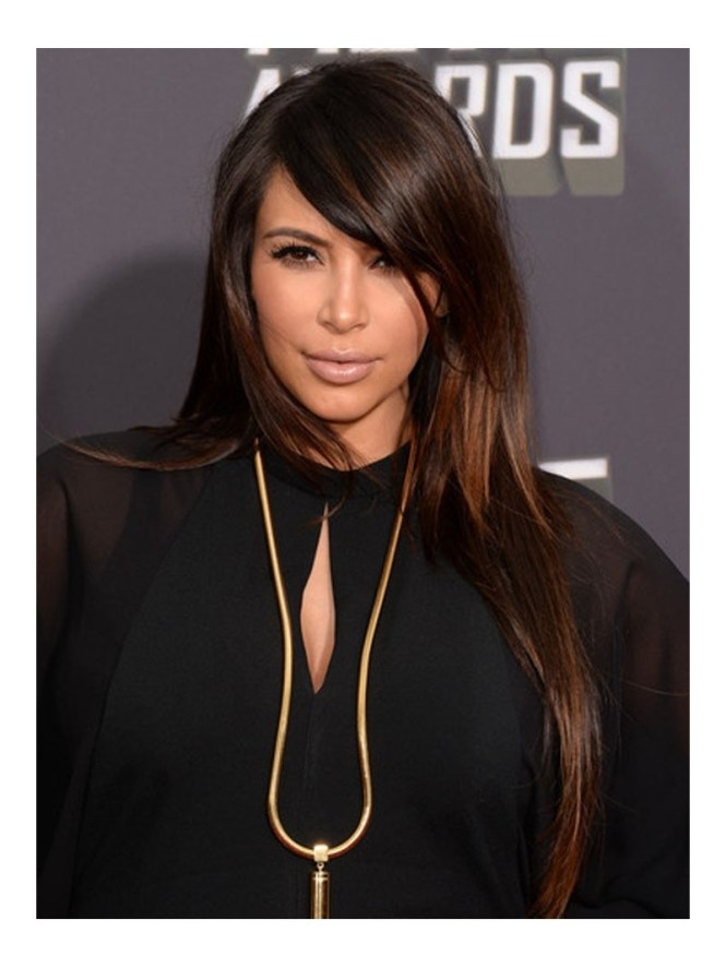 Kim kardashian highlights hair choice image hair extension black hair with highlights kim kardashian the best black hair 2017 kim kardashian s makeup and pmusecretfo Choice Image