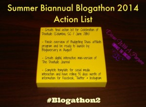 Summer Biannual Blogathon Bash 2014 To Do List