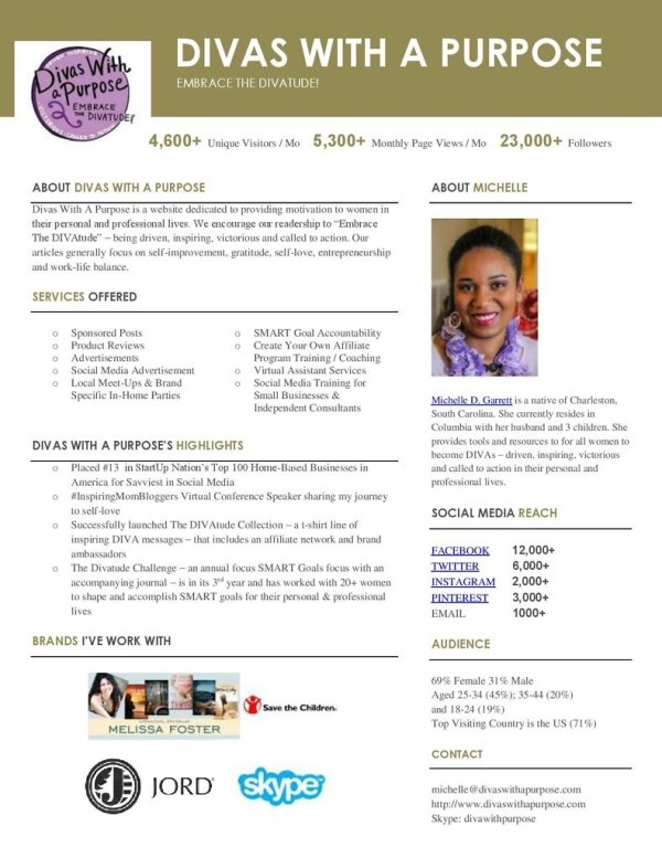 Divas With A Purpose Media Kit