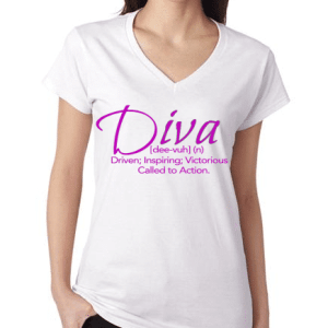 The #DivaDefined Tee in White