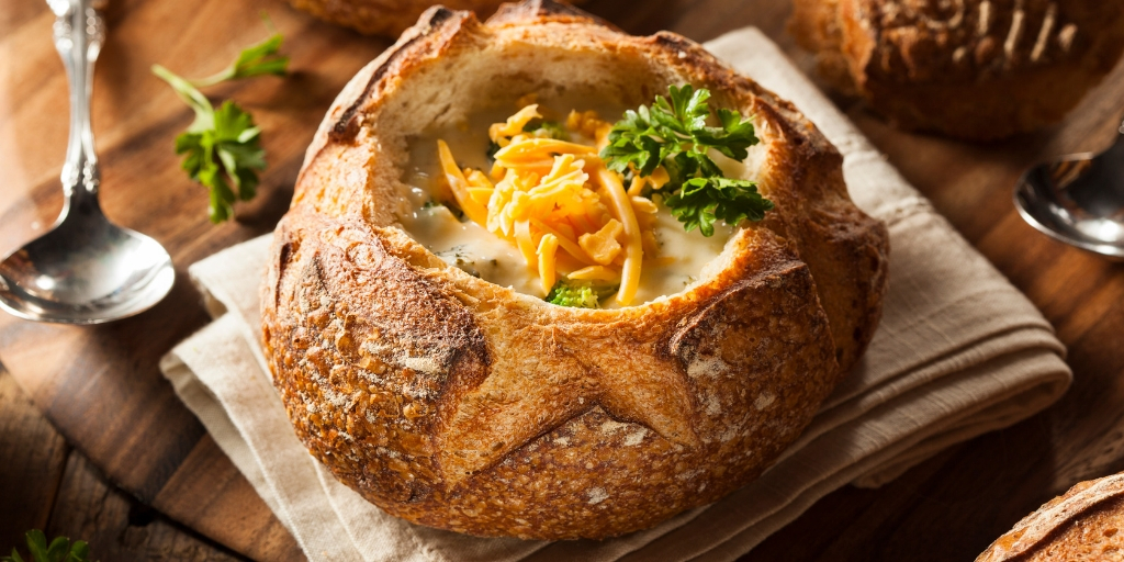 Fall bucket list Eat soup in a bread bowl
