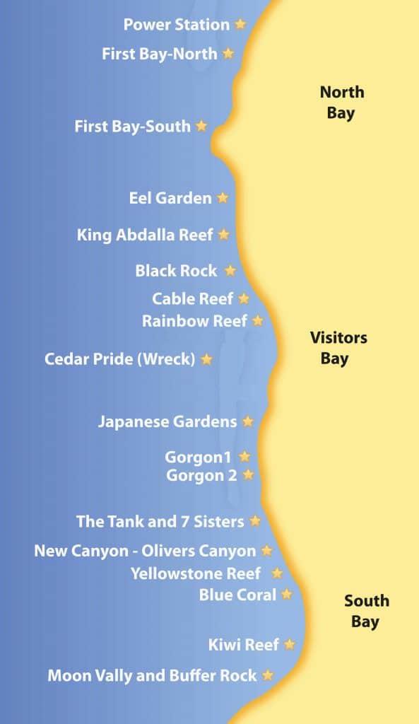 aqaba dive sites map