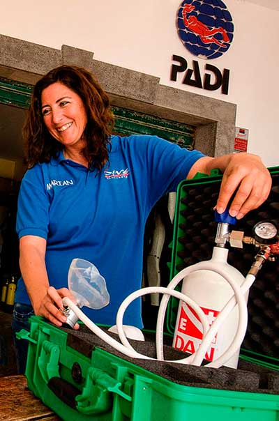 Emergency First Response Instructor, kurs, EFRi, Dive College Lanzarote, Playa Blanca