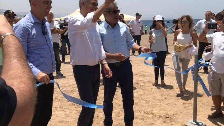 טקס פתיחת חוף קצאא לציבור. צילום: סיגלה שהם
