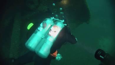 צלילה בספינה הטרופה Cedarville, Straits of Mackinac
