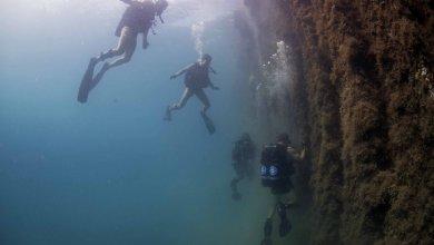 צוות צוללנים של חיל הים האמריקאי נשלח לבצע בדיקה ויזואלית של מזח באי גואם