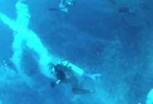 צוללים נלכדו במערבולת באיי סוקורו