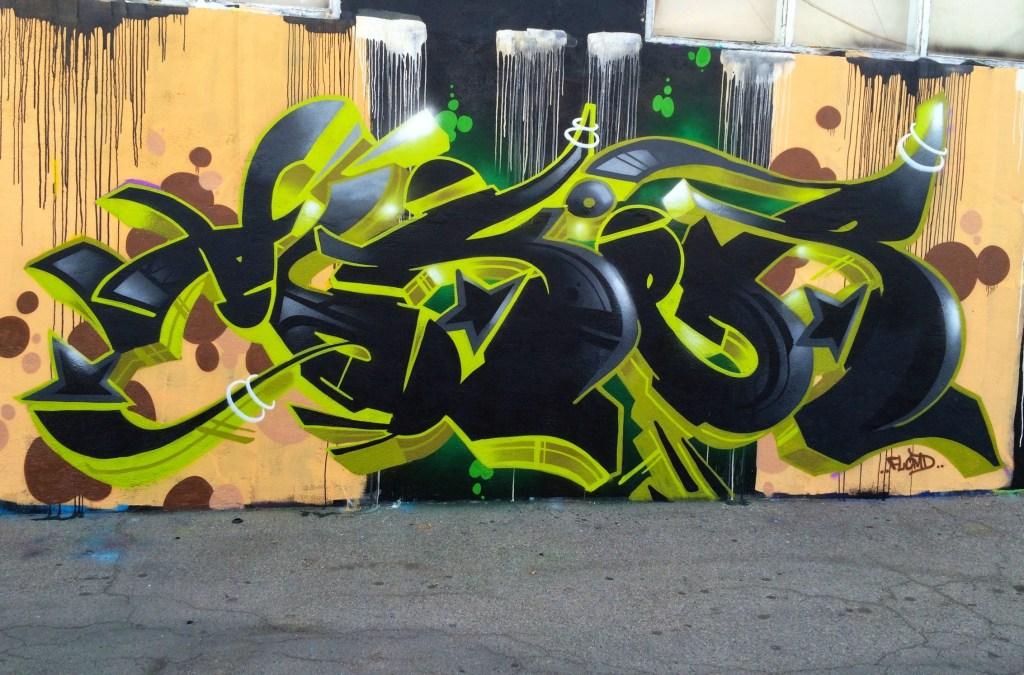 André Eriksen har et helt liv med graffiti bak seg. Her fra Hollywood.