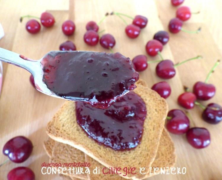Confettura di ciliegie e zenzero homemade