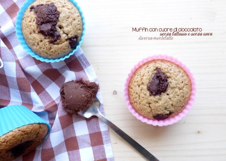 muffin con ciocolato senza lattosio