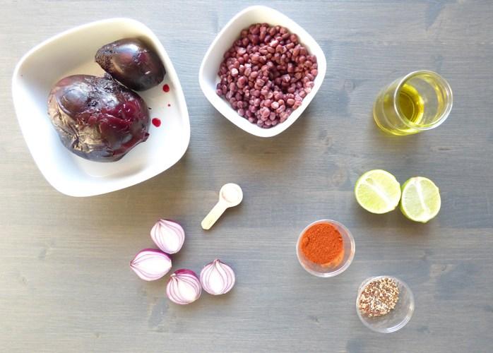 Frittelle veg di barbabietola rossa alla paprica