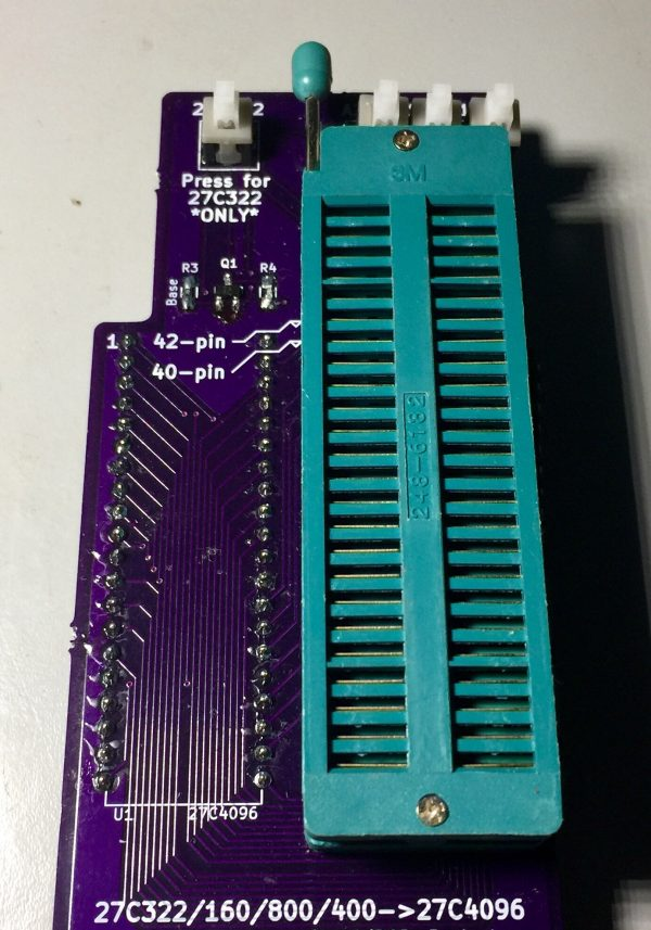 16 Bit EPROM 40/42 pin ZIF adapter for TL866 MiniPRO