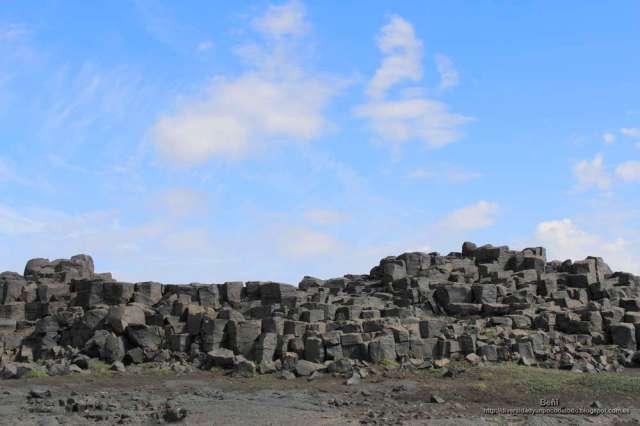 camino de las cascadas Dettifoss y Selfoss (islandia)