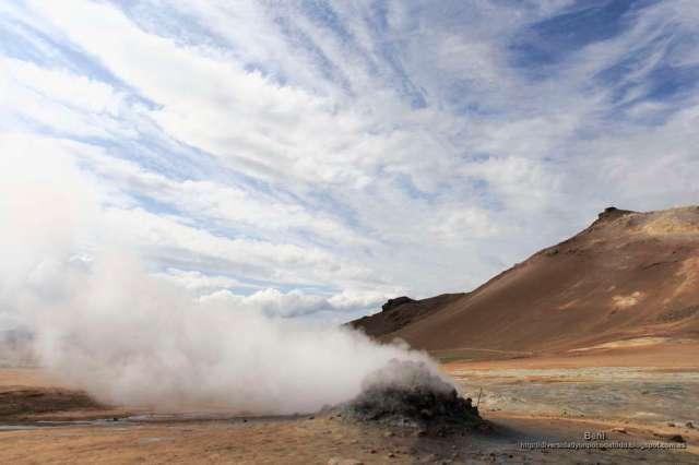 fumarolas en Namafjall y Hverir (Islandia)