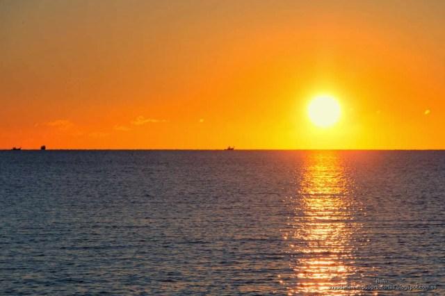 amanecer en el puerto de San Pedro del Pinatar