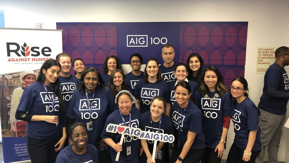AIG Centennial, Rise Against Hunger
