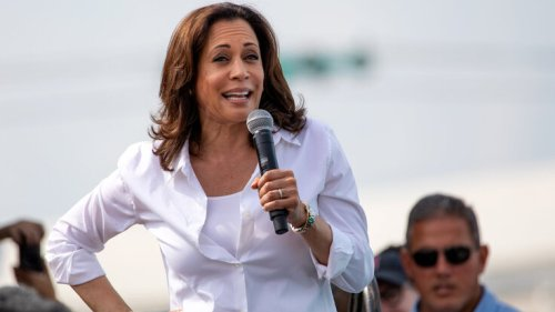 Kamala Harris giving election speech