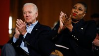 President-elect Joe Biden with senior adviser Symone Sanders