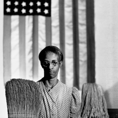 "Gordon Parks' famous ""American Gothic,"" 1942. (The Gordon Parks Foundation)"